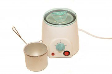 Wenkbrauw wax set met wax warmer en flexiwax crystal
